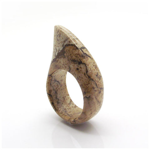 Shark Ring - Pattern stone - jeweleen - 1