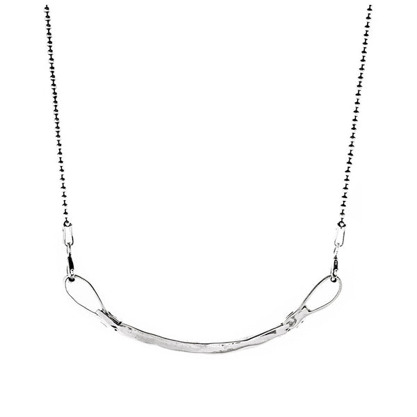 Curved Bar Necklace - silver - jeweleen - 1