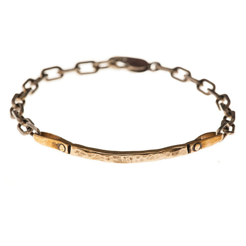 Curved Bar Bracelet - bronze - jeweleen