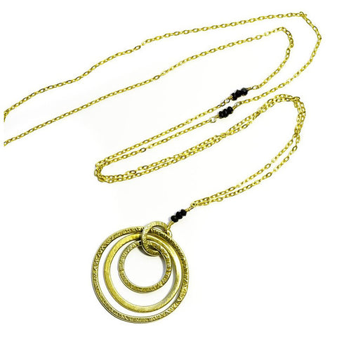 'Triple Hoop' Necklace-Silver - jeweleen - 1