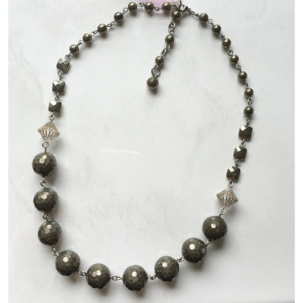 Pyrite Necklace - jeweleen