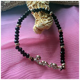 Black Beaded LOVE bracelet - jeweleen - 3