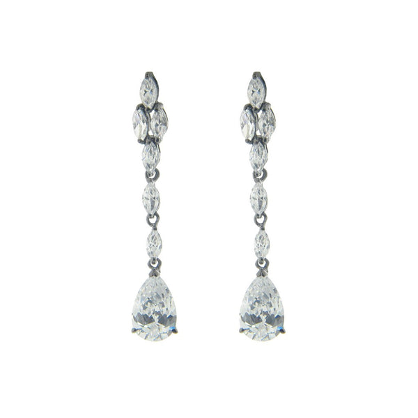 "Sterling Silver Cz Sensation Drops, 1.75"" - jeweleen"