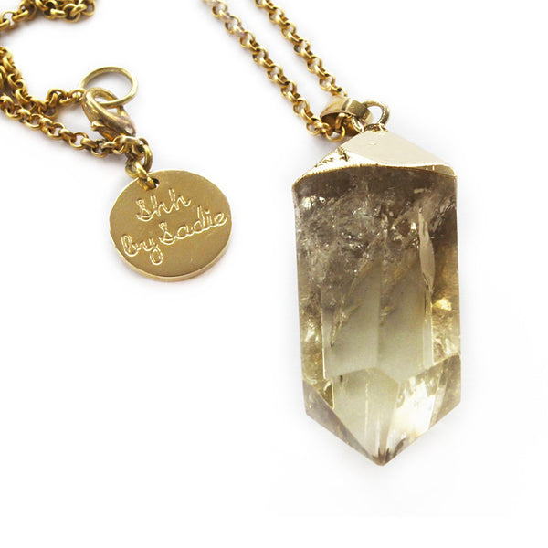 Glow Necklace - Lemon Quartz - jeweleen - 1