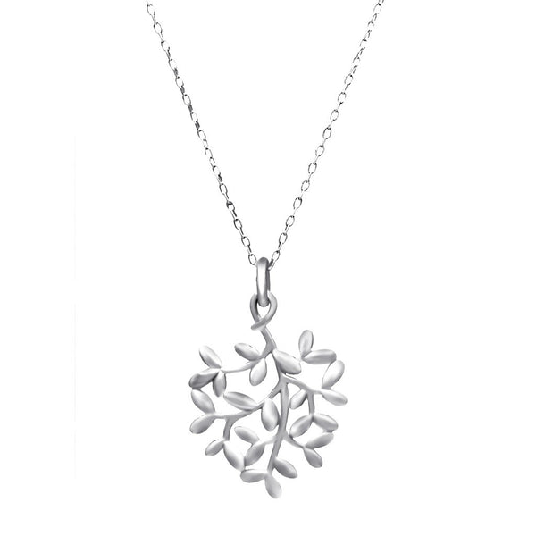Delicate Tree Silver Pendant Necklace - jeweleen - 1