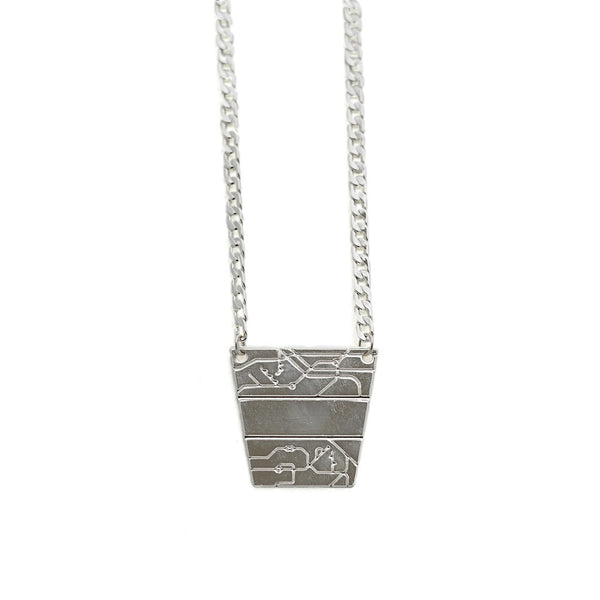 B-B Pyramid Necklace silver - jeweleen