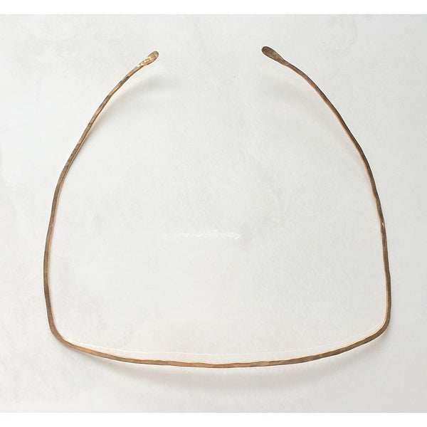 Square Hammered Necklace - jeweleen