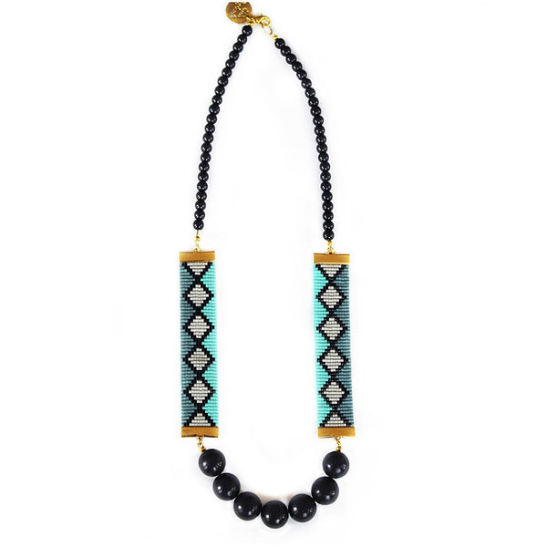 Miami Nights Necklace (Blue) - jeweleen - 1