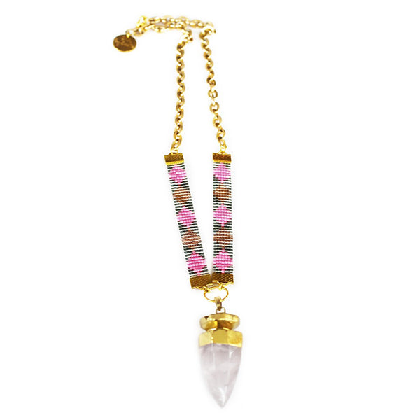 St Tropez Necklace (pink) - jeweleen - 1