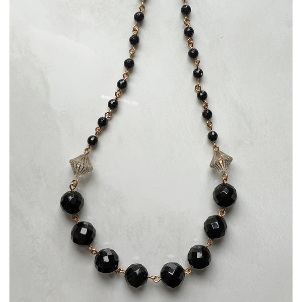 Black Onyx Necklace - jeweleen