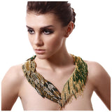 GOLD LEAF NAVETTE NECKLACE. - jeweleen - 2