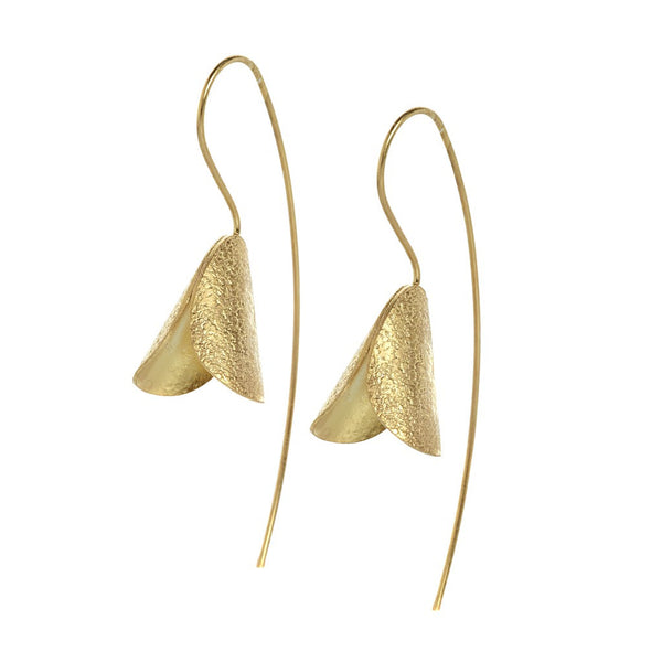 Tara tulip shaped earrings gold - jeweleen