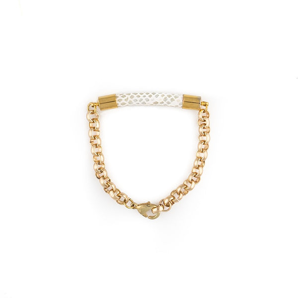 Hera Bracelet - White/Gold - jeweleen
