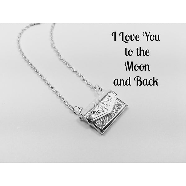 I Love You to the Moon and Back Locket - jeweleen - 1