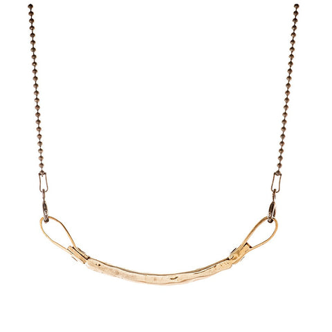 Curved Bar Necklace - bronze - jeweleen - 1