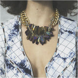 Rocked Up Necklace (Mermaid rainbow) - jeweleen - 4