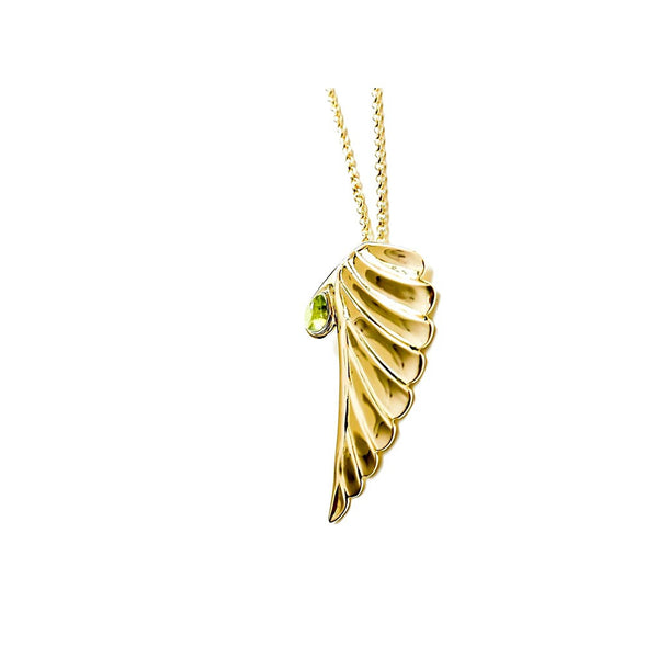Peace pendant green citrine necklace - jeweleen - 1
