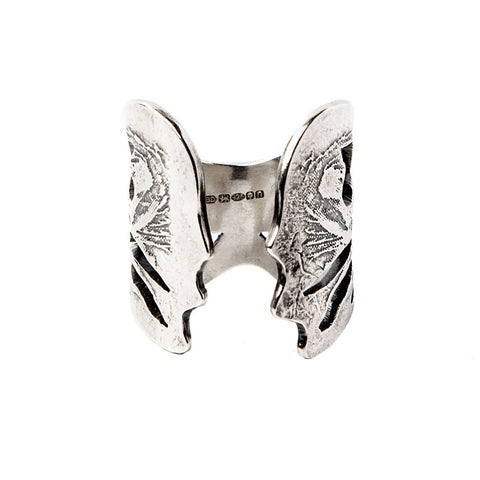 Silver Angel Wings Ring - jeweleen - 1
