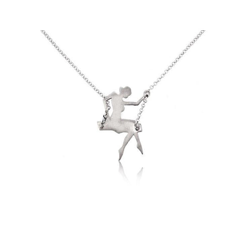 GIRL ON SWING NECKLACE