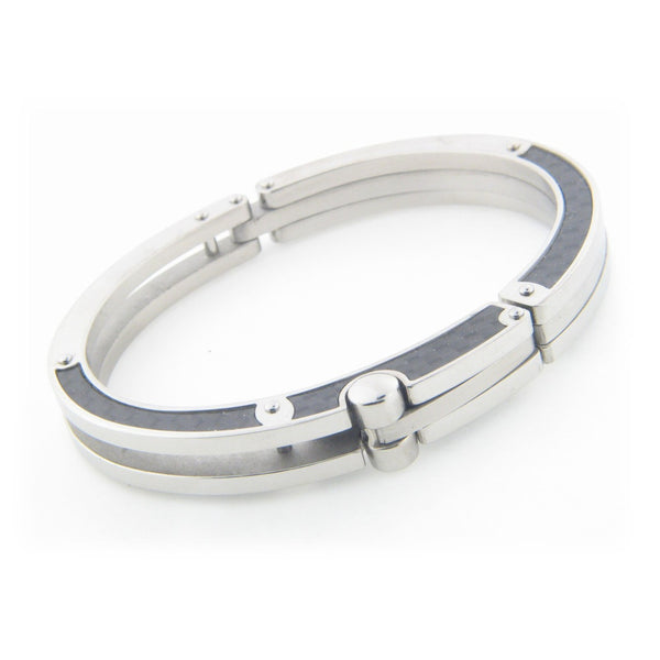 Mens Grafiato Tiles Stainless Steel Bracelet