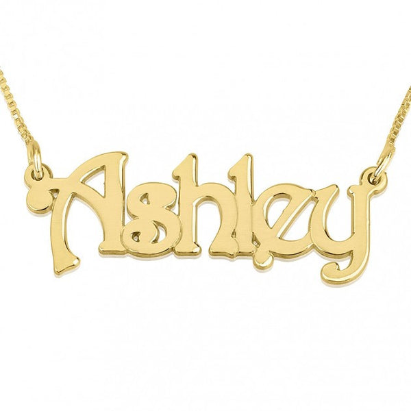 24K Gold Plated Harrie Style Name Necklace - jeweleen - 1