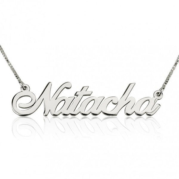 14K White Gold Alegro Name Necklace - jeweleen - 1