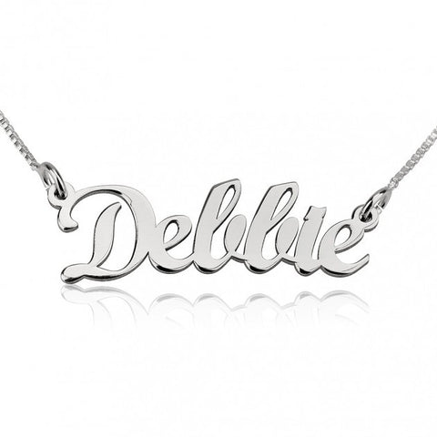 14K White Gold Handwriting Name Necklace - jeweleen - 1