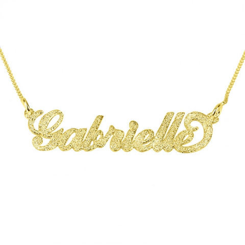 Sparkling 14k Gold Carrie Name Necklace - jeweleen - 1
