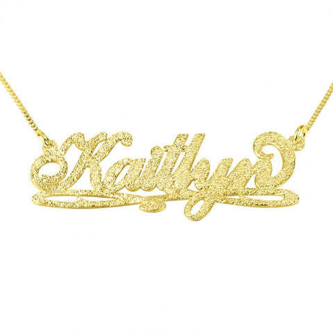 Sparkling 14k Gold Bianca Line Name Necklace - jeweleen - 1