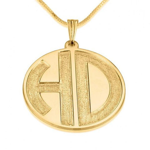 24k Gold Plated Sparkling 2 Letters Monogram Necklace - jeweleen - 1