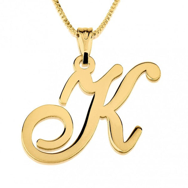 24k Gold Plated Initial Necklace - jeweleen - 1
