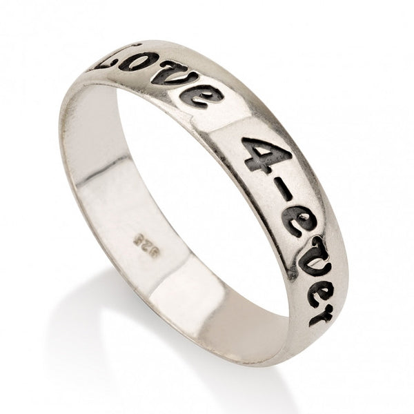 Sterling Silver Print Font Name Ring - jeweleen