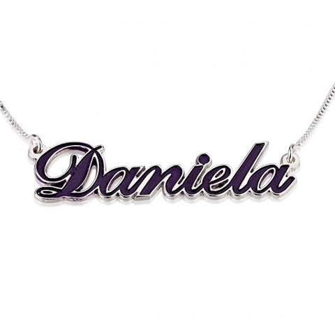 Sterling Silver Color Name Necklace - jeweleen - 1