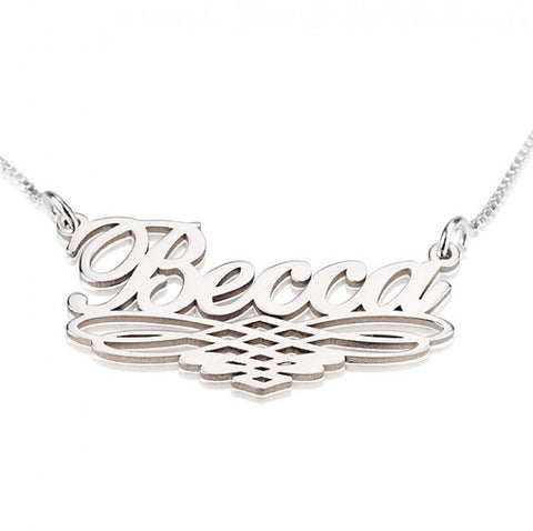 Sterling Silver Special Line Name Necklace - jeweleen - 1