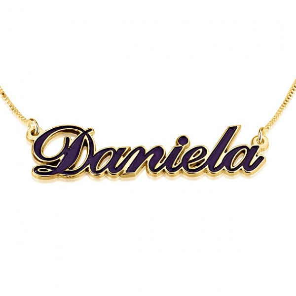 24K Gold Plated Color Name Necklace - jeweleen - 1