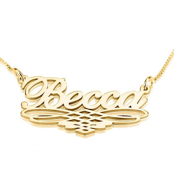 24K Gold Plated Special Line Name Necklace - jeweleen - 1