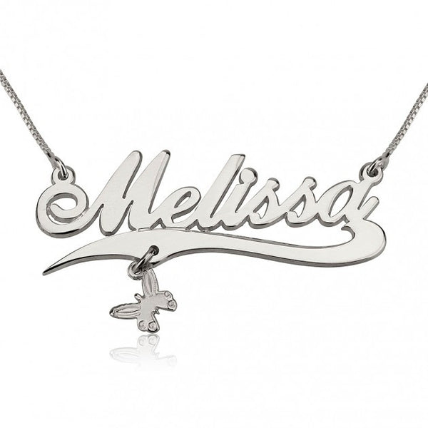 Alegro with Line and a Charm Name Necklace - jeweleen - 1