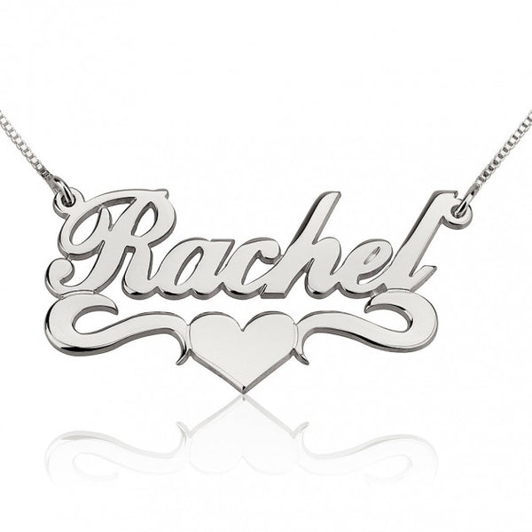 Alegro with Middle Heart Name Necklace - jeweleen - 1