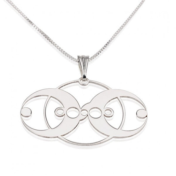 Sterling Silver Crop Circle 3 Circles Necklace - jeweleen - 1