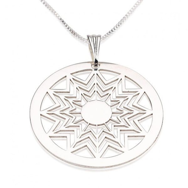 Sterling Silver Crop Circle Star Way Necklace - jeweleen - 1