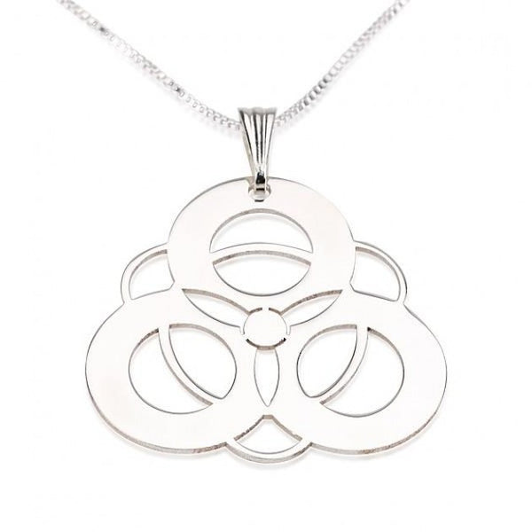 Sterling Silver Crop Circle 4 Circles Necklace - jeweleen - 1