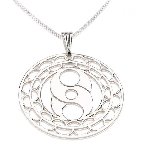 Sterling Silver Crop Circle S Circle Necklace - jeweleen - 1