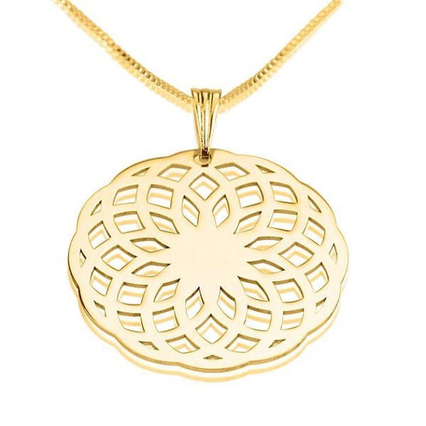 24k Gold Plated Crop Circle Flower Way Necklace - jeweleen - 1