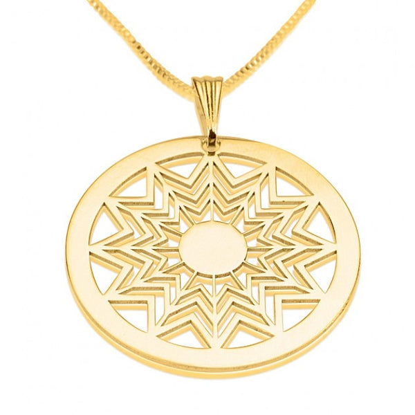 24k Gold Plated Crop Circle Star Way Necklace - jeweleen - 1