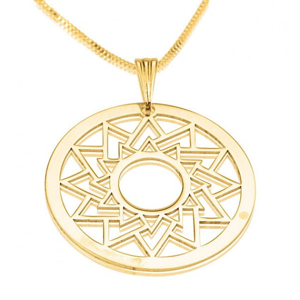 24k Gold Plated Crop Circle Triangle - jeweleen - 1