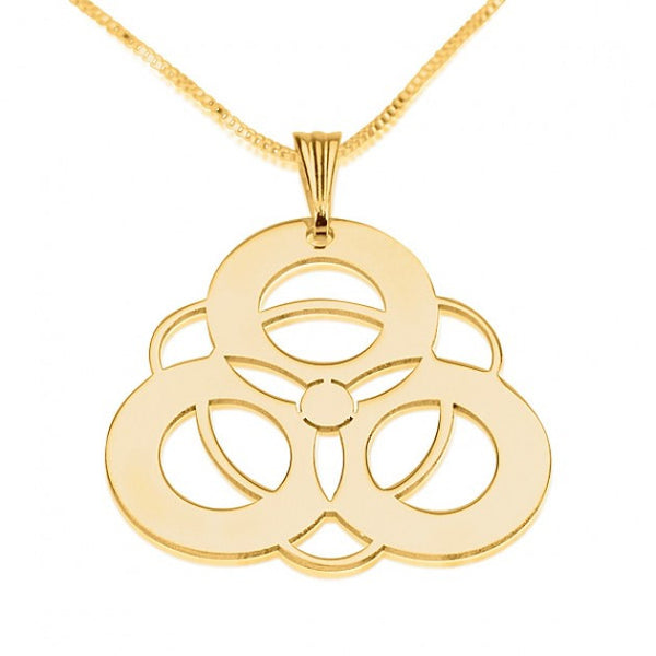 24k Gold Plated Crop Circle 4 Circles - jeweleen - 1