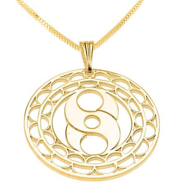 24k Gold Plated Crop Circle S Circle - jeweleen - 1