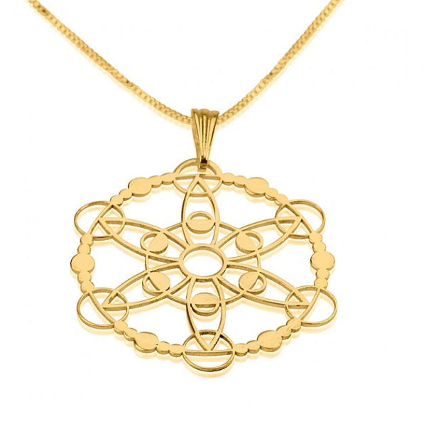 24k Gold Plated Crop Circle Outgoing Circle Necklace - jeweleen - 1