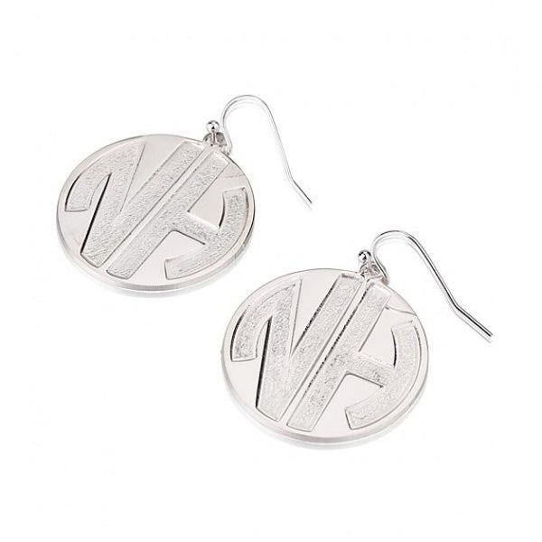 Sterling Silver 2 Sparkling Letters Monogram Earrings - jeweleen