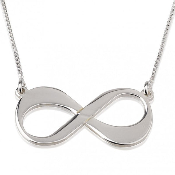 Sterling Silver Infinity Necklace - jeweleen - 1